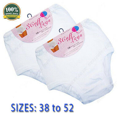 All Sizes 3 Ladies Cuff Legs 100/% Cotton Airtex Briefs Knickers Underwear