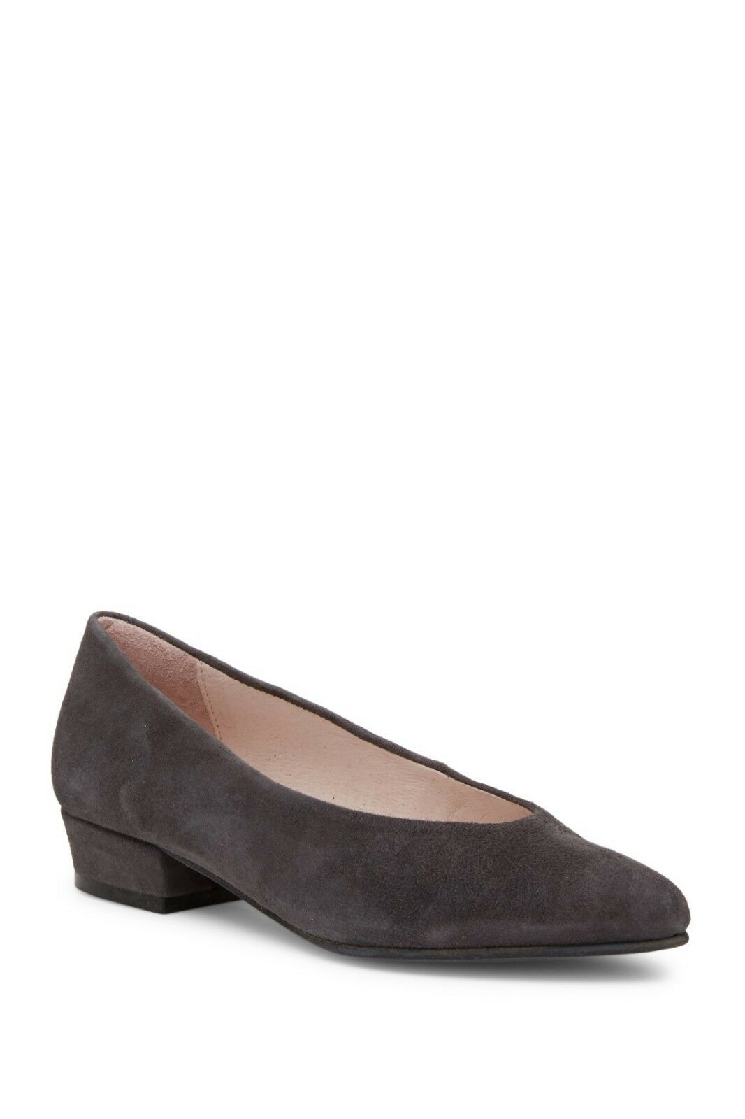 205 NWT Patricia Green Sz 9.5 Sandra Suede Pump Block Heel Comfort Schuhes GRAY