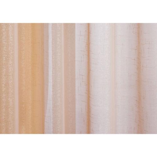 Silver Glitter Sparkle or pâle épais voile oeillets filet rideau panneau