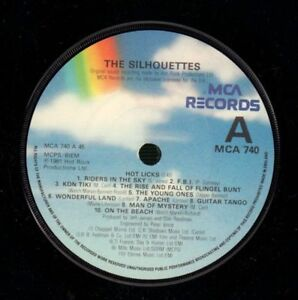 The-Silhouettes-7-034-Vinyl-Hot-Licks-Behind-Every-MCA-MCA-740-UK-1981-VG-NM