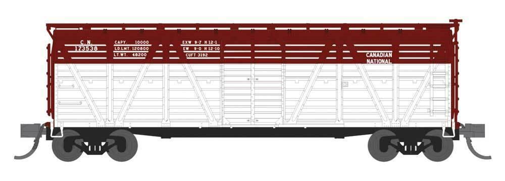 Spur N - PRR K7 Stock Car Canadian National mit Sound von Hühnern -- 3567 NEU