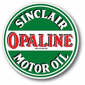 SUPER HIGH GLOSS OUTDOOR 4 INCH SINCLAIR GASOLINE DINO DECAL STICKER