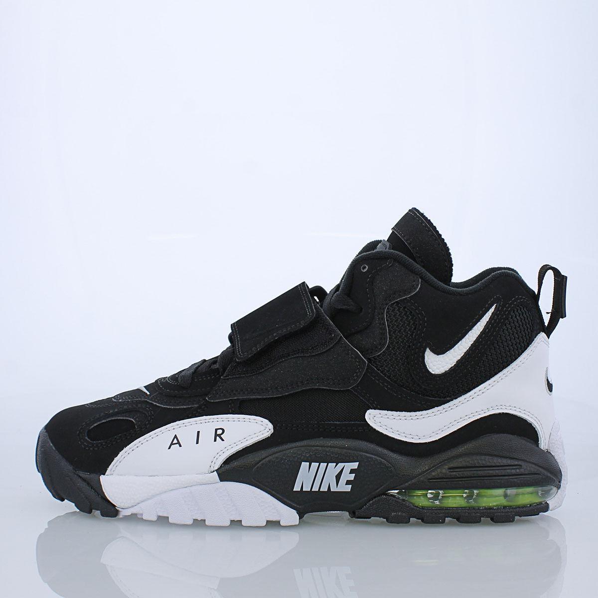 Nike Air Max Speed Turf Sz 10 nero bianca giallo Deion Sanders oreo 525225-011