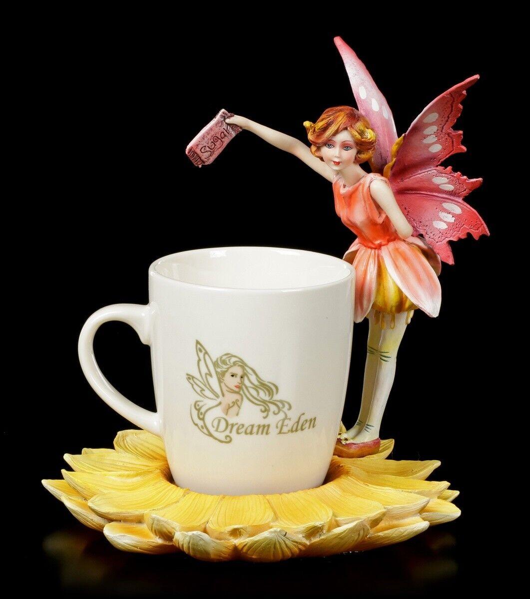 Elfen Figur mit Tasse - rouge Fairy Rara - Fee Tassenelfe Kaffeebecher Deko