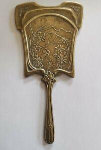 Art-Nouveau-French-brass-hand-mirror