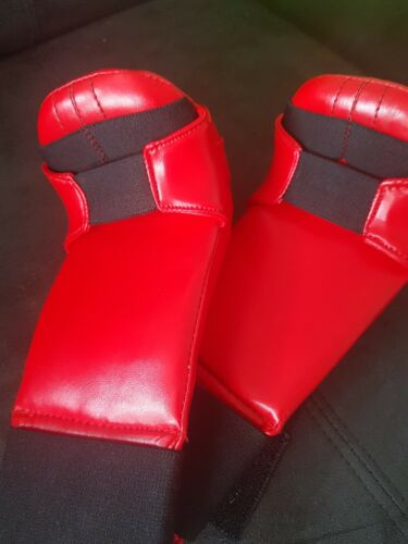 Large KWON Karate Martial Arts Hand Protector Red