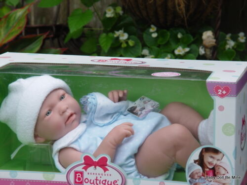 Berenguer *  18108 * La Newborn * 17 Inch Real Boy Doll *  With Blue Layette
