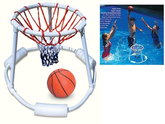 Swimline Super Hoops Floating Swimming Pool Basketball