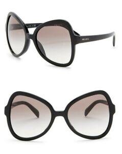 20902609bf Image is loading Prada-Black-Butterfly-Sunglasses-Smoke-Gradient -Lenses-SPR05S-
