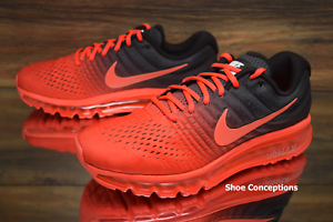835bb4398f51 Nike Air Max 2017 Crimson Black 849559-600 Running Shoes Men s ...