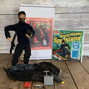 1973 GI JOE LOT / THE SECRET MISSION TO SPY ISLAND / R/R FIGURE  / BOOK & RECORD
