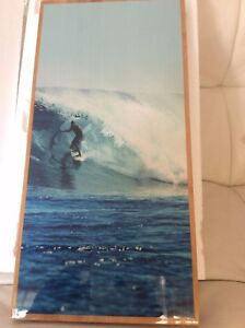 Pottery-Barn-Teen-Kelly-Slater-Bamboo-9x18-Set-Wave-Wall-Hanging-Surf-Ocan-Art