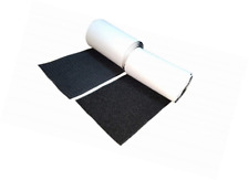 Approx 4 10CM Wide 1 Meter Long Self Adhestive Hook and Loop Strips Set with Super Sticky Glue Nylon Fabric Fastener Black