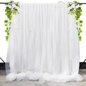 Chiffon Tulle Backdrop Curtain Panel