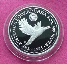 1995  KOOKABURRA 2oz 1927 FLORIN PRIVY MARK  SILVER PROOF $2 COIN