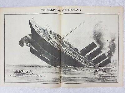 1915 Hundimiento Del Lusitania Dollshouse Miniatura periódico-Daily Mirror