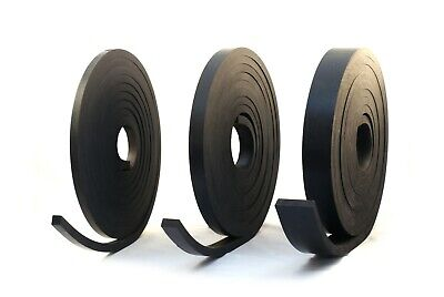 Solid Neoprene Black Rubber Strip 25mm wide x 8mm thick x 5m long