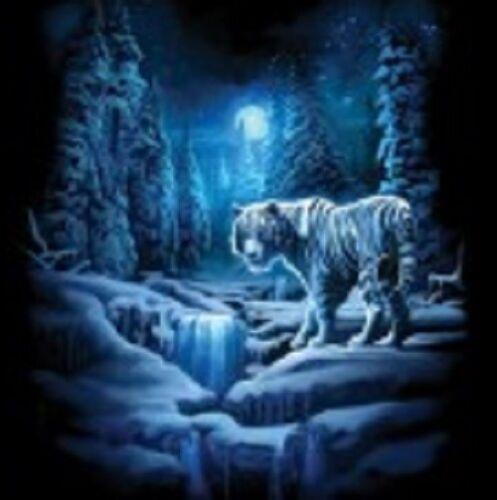 snow tiger t shirt youth beautiful kid boy girl US size 2p