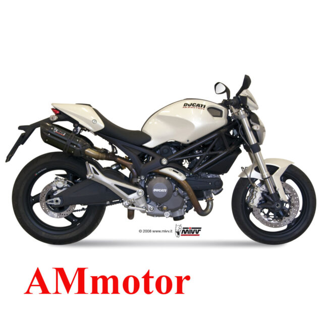 Mivv Ducati Monster 696 2014 14 Exhaust Suono Black Motorcycle