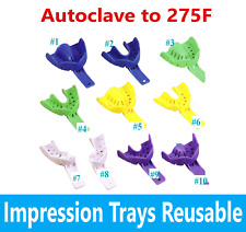 Dental Impression Trays Reusable Plastic Autoclave To 275f Choose Size 12bag