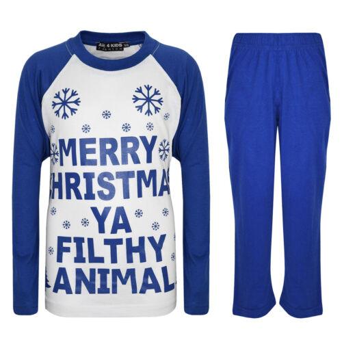 "Kids Girls Boys /""SANTAS LITTLE HELPER/"" Christmas Pyjamas And YA FILTHY PJ/'S 1-8"