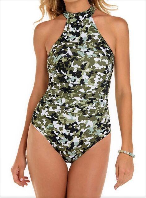 87b976af32 NWT MSRP  178 MAGICSUIT G.I. Jane Ursula Camo Swimsuit Multi-color Size 12
