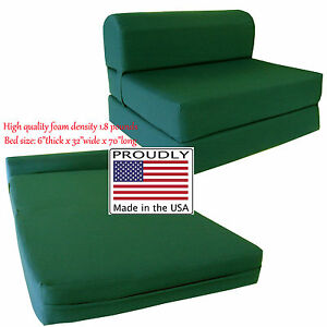 Miraculous Details About Twin 6X32X70 Flip Chair Folding Foam Beds Foldable Sofa Bed Hunter Bralicious Painted Fabric Chair Ideas Braliciousco