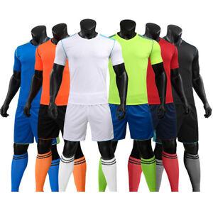 e7232e415ca 17/18 NEW Blank Running Soccer Jersey Kit Football Sport Uniform | eBay