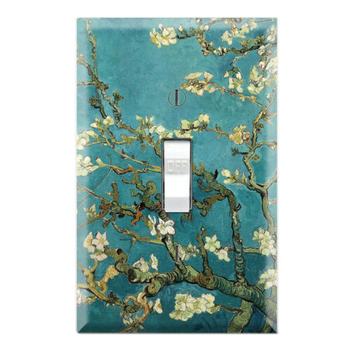Graphics Art Toggle//Rocker//GFCI//Outlet Wall Plate Almond Branches in Bloom