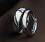 Coppia-anello-Fedi-Fedine-Fidanzamento-Cuore-Spezzato-acciaio-incisioni-charms miniatura 2