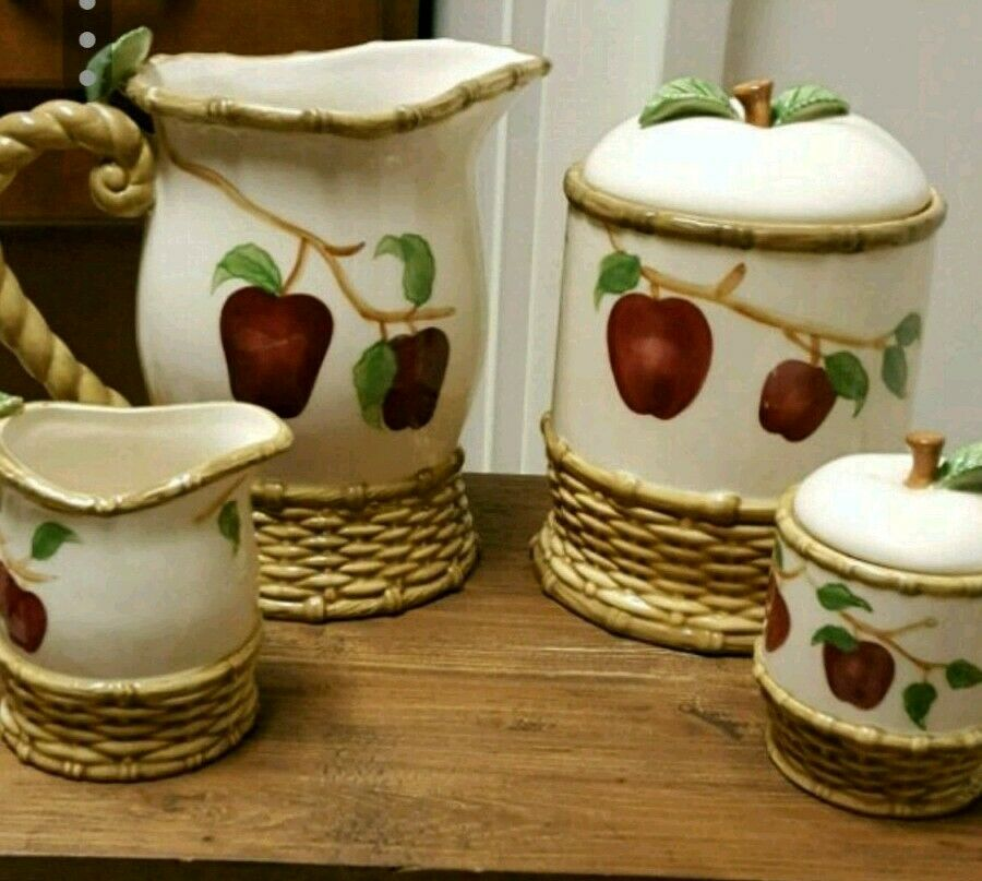 Beautiful Country Apple Coffee Tea Kitchen Set