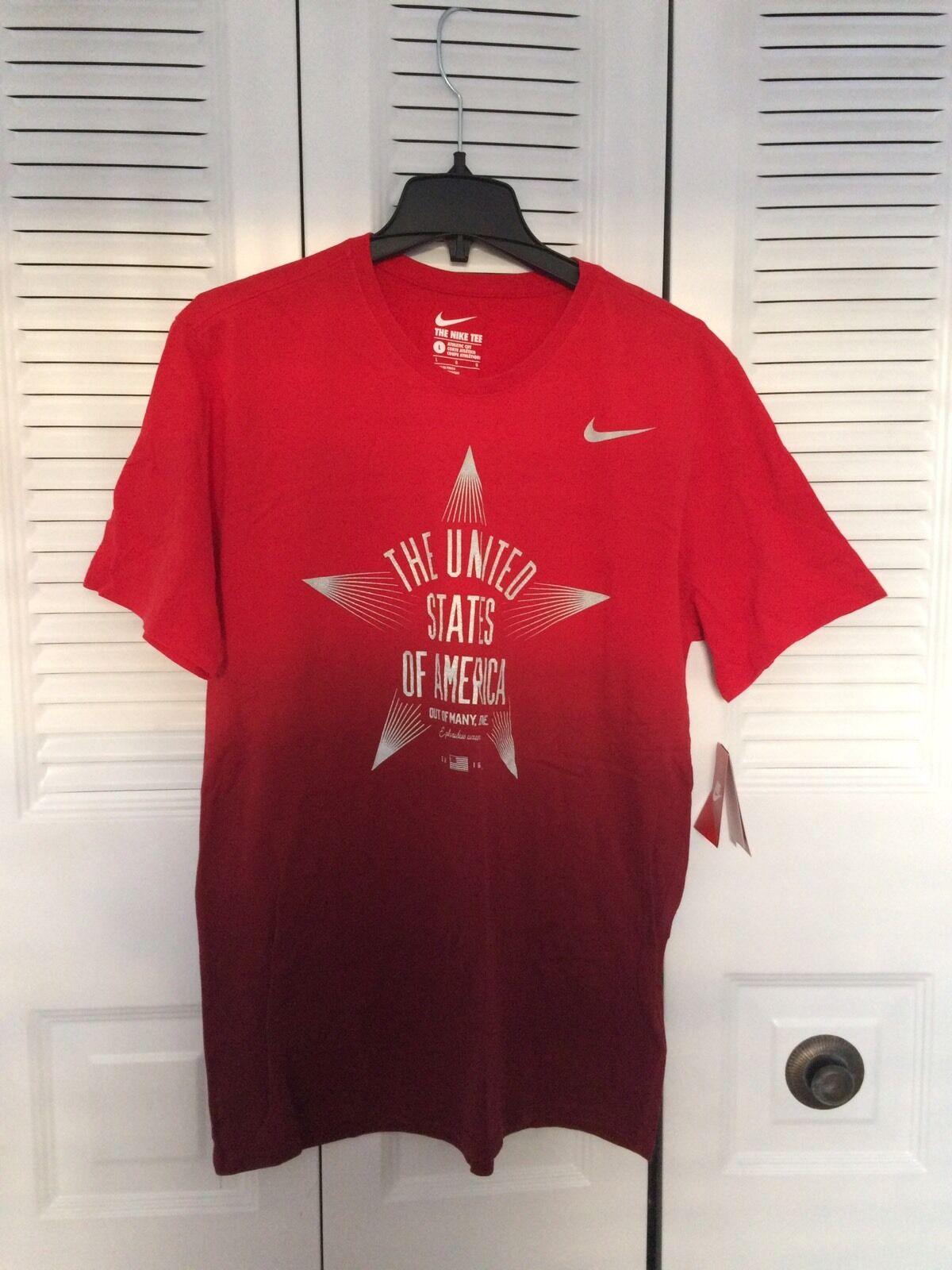 Men's NIKE USA RIO 2016 OLYMPIC 'Reflective Star' Sz L [801158 687] T-Shirt