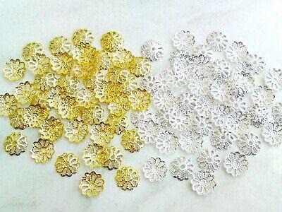 50 filigrane Blumen-Perlenkappen No.2  8mm