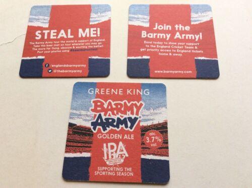 100 x Greene King Barmy Amry bar drip mats new Golden Ale IPA
