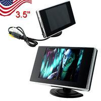 【us】3.5 Tft Lcd Color Screen Car Video Rearview Monitor Camera Car Reverse