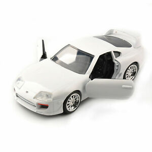 Jada-1-32-Toyota-Supra-Fast-amp-Furious-7-White-1995-Alloy-Car-Models-F-Collection