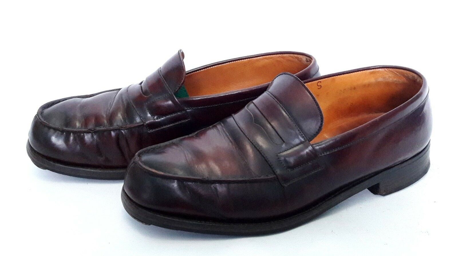 Mocassins cuir J M WESTON taille 7 E cuir Mocassins bordeaux e8bb09
