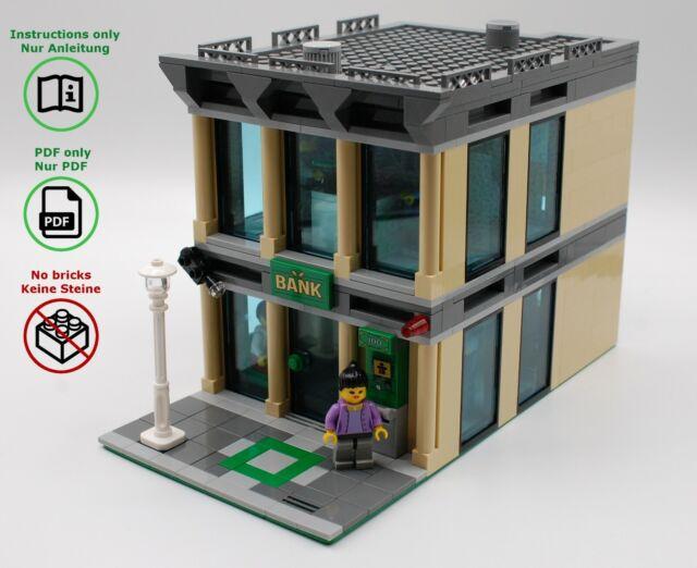 LEGO City Bank - MOC building instructions -modular building, no bricks