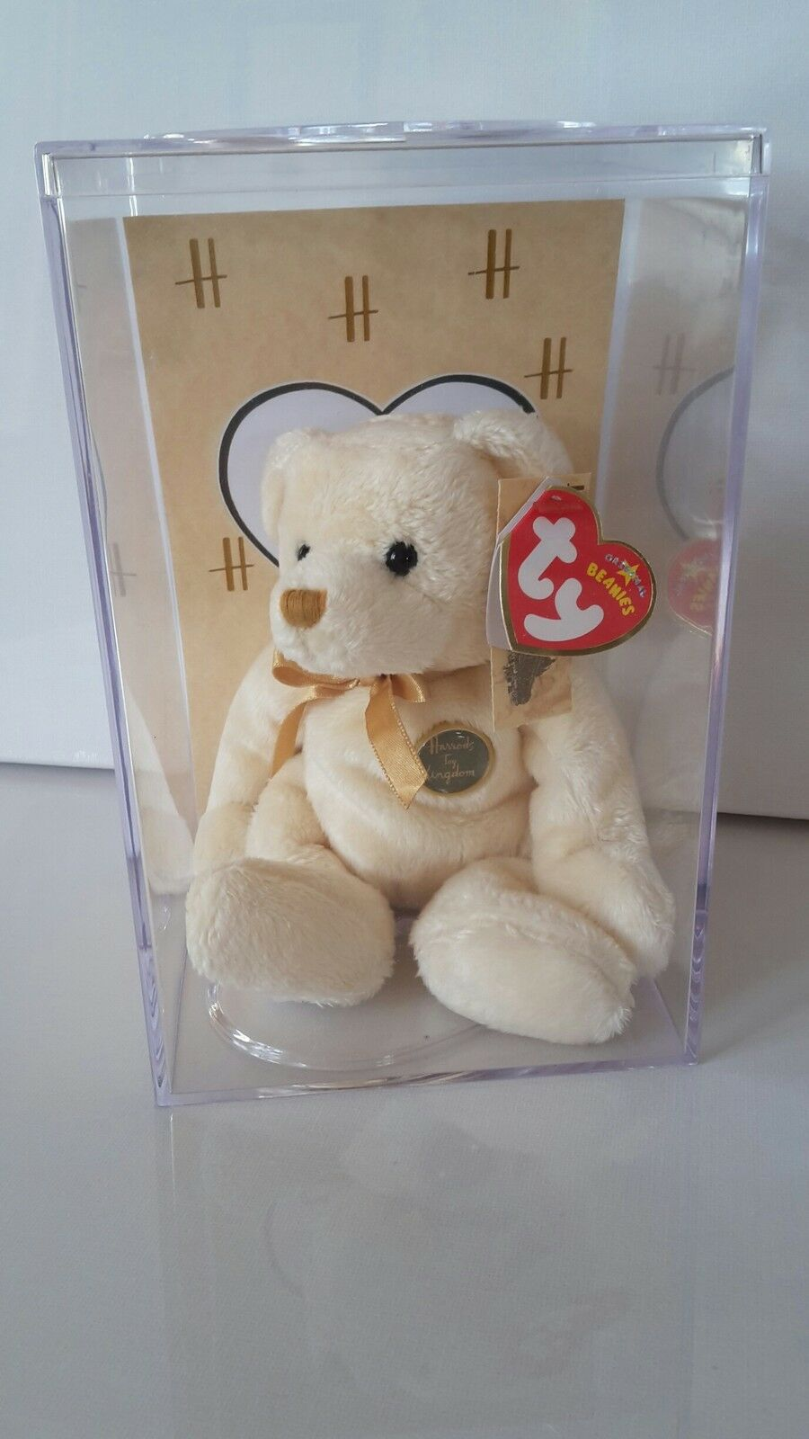 Ty Beanie Baby Babie  CHARLES  Harrods UK Exclusive Teddy Bear 1st Day Edition