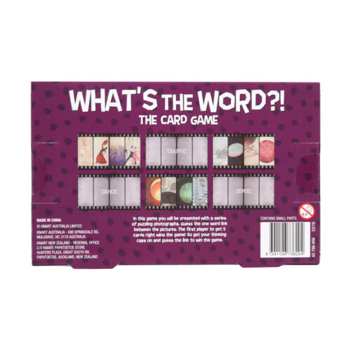 What/'s The Word?! Catchphrase Game Purple Donkey Family Indoor Party Fun Card