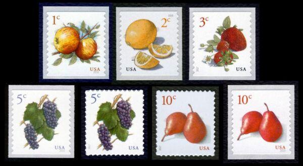 # 5037-5039, 5177-5178, 5201, 5256-fruit, Singles, Excellent État Any 4 = Dans Beaucoup De Styles