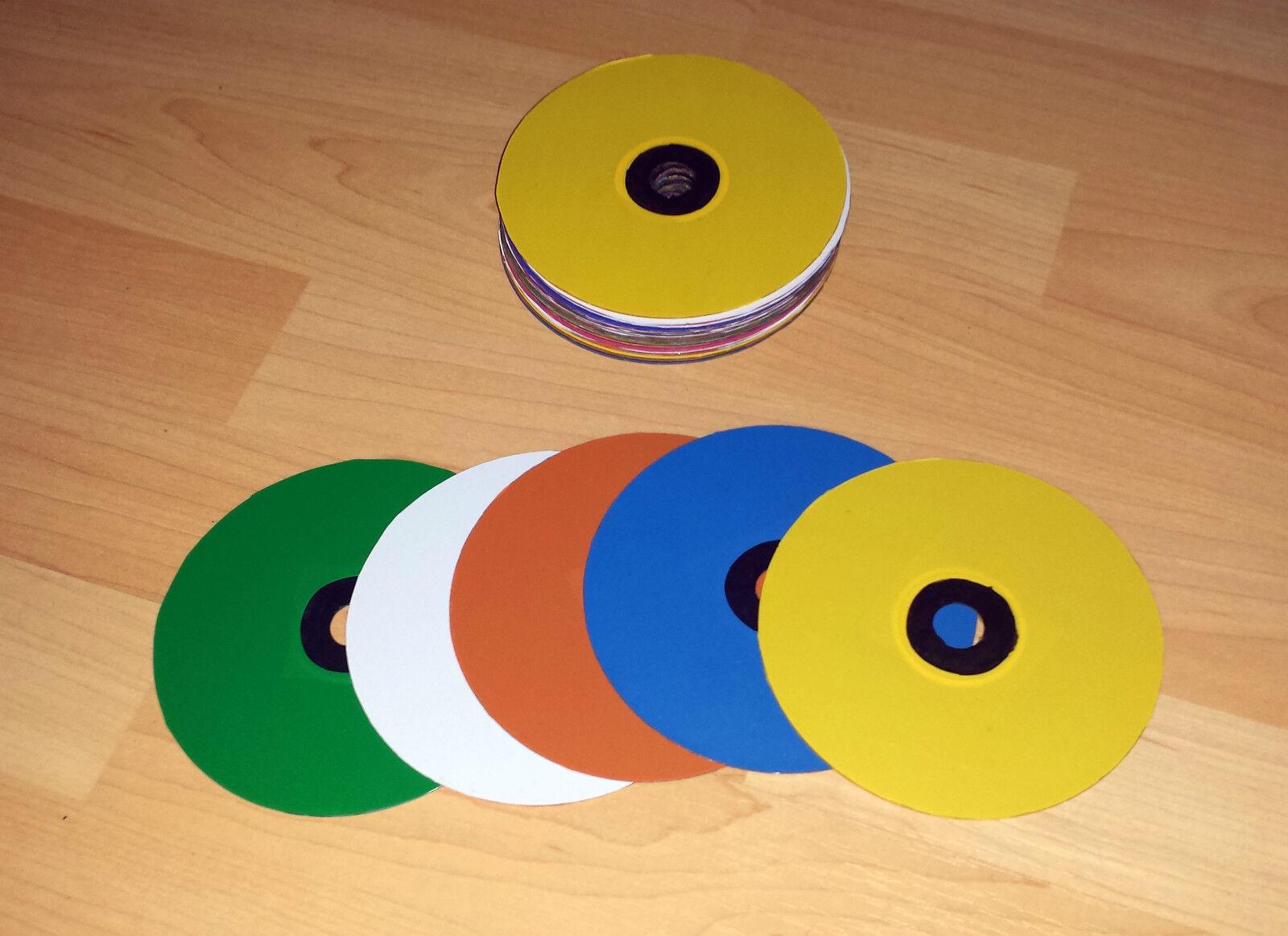 Manipulations CDs farbig    Die Farbe ist sehr auffällig