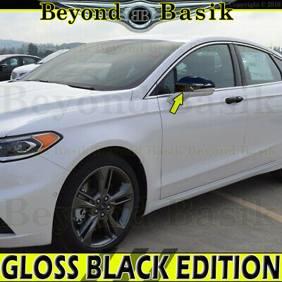 2013-2019 FORD FUSION Chrome Mirror COVERS Overlays W//Signal Hole
