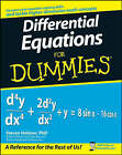 Differential Equations For Dummies by Steven Holzner (Paperback, 2008)