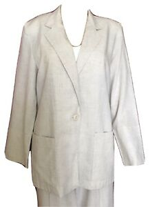 Prophecy By Sag Harbor Women S Designer Career Pant Suit Size 10 Beige 2 Pcs Ebay