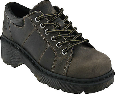 Dr. Martens Women's Melissa Black Greenland Plain Lace To Toe Oxford ALL SIZES!
