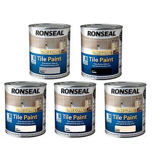 Groovy Details Zu Ronseal One Coat Tile Paint Satin 750Ml Kitchen Bathroom Tile Paint 5 Colours Interior Design Ideas Grebswwsoteloinfo