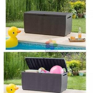 Keter-Capri-Plastic-Rattan-Garden-Storage-Box-Anthracite-or-Brown-Waterproof