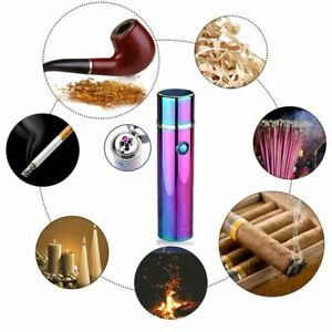 Dual-Arc-Electric-8-COLORS-USB-Lighter-Rechargeable-Plasma-Windproof-Cigar-Pipe