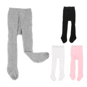 Collants-Bebe-Filles-Hiver-Coton-Tricote-Losange-Elastique-Antiderapant